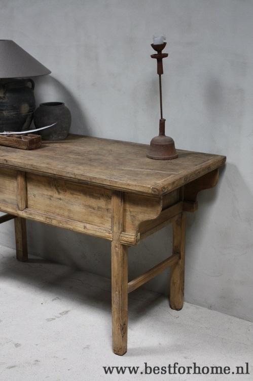 Oud Houten Side Table.Authentieke Landelijke Oude Wandtafel Sobere Stoere Oud Houten Sidetable No 474 Verkocht