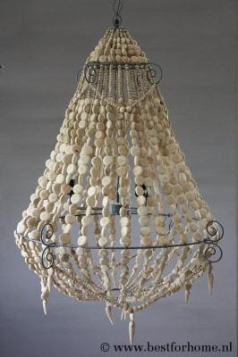 Fonkelnieuw Grote Hanglamp Bijzondere Houten Kroonluchter Helen   BFH0725 JL-61