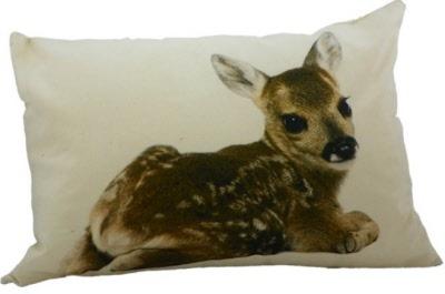 Landelijk canvas kussen bambi sober stoer hert sale! bfh007