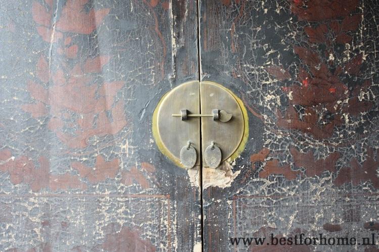 Oude Houten Kast : Landelijke antieke chinese bruidskast stoere originele oude houten