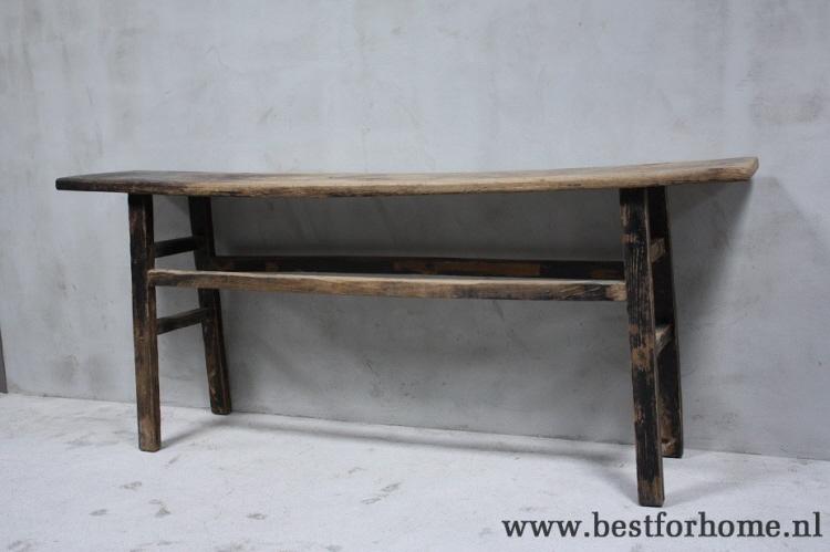 Side Table Oud Hout.Landelijke Oude Houten Sidetable Sobere Stoere Wandtafel Uniek Oud Hout No 838
