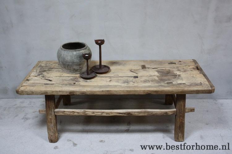 Salontafel Hout Oud.Originele Landelijke Grote Houten Salontafel China Robuuste Stoere Tafel Oud Hout No 731