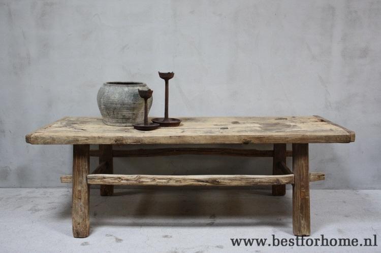 Grote Houten Tafels : Originele landelijke grote houten salontafel china robuuste stoere