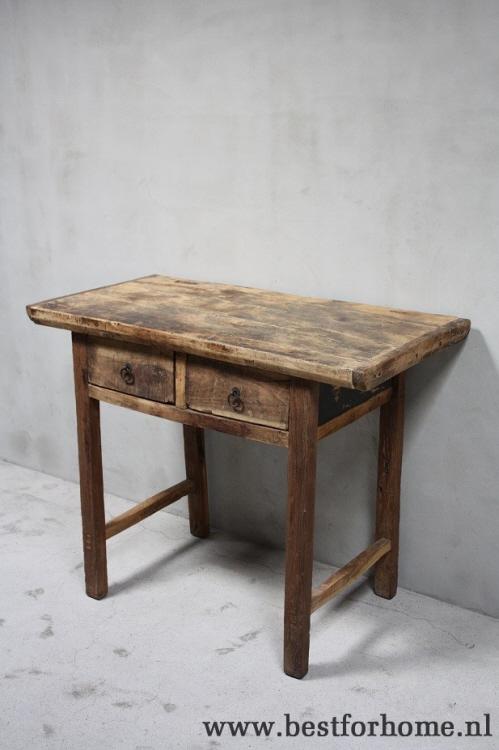 Side Table Oud Hout.Oude Landelijke Chinese Wandtafel Unieke Sidetable Sober Stoer Oud Hout No 695