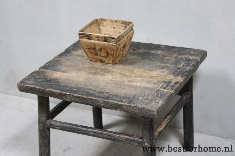 Robuust Oud Tafeltje.Robuuste Oud Houten Bijzettafel China Landelijk Rustiek Tafeltje Oud No 809