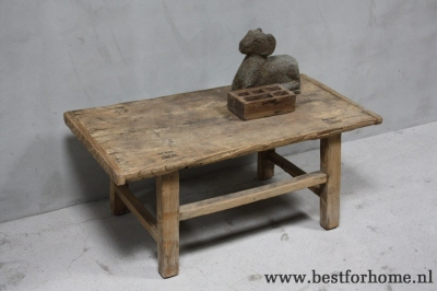 Houten Salontafel Landelijk.Robuuste Oud Houten Salontafel Originele Oude Landelijke Tafel No 532 Verkocht