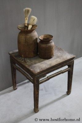 Landelijk Salon Tafeltje.Sober Oriental Landelijk Oud Houten Bijzettafel Uniek Chinees Salontafeltje No 146 Gereserveerd