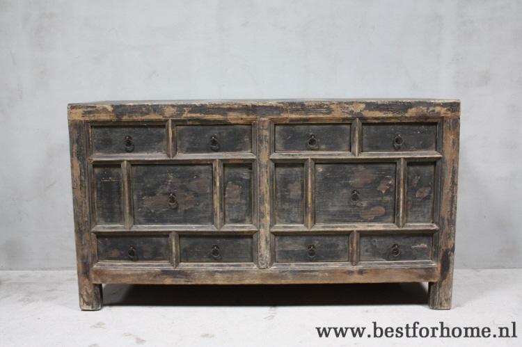 Oude Houten Kast : Sober stoer oud houten dressoir originele chinese landelijke oude