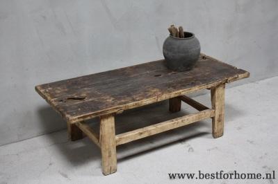 Houten Salontafel Landelijk.Sobere Chinese Originele Oud Houten Salontafel Stoer Robuust Landelijk No 884