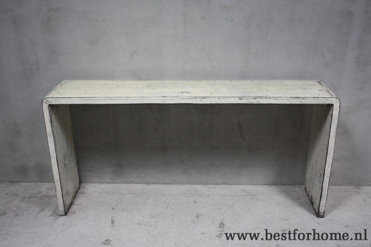 Strakke Witte Sidetable.Sobere Landelijke Oud Houten Sidetable Uniek Doorleefd Wit Stoere Strakke Wandtafel No 304