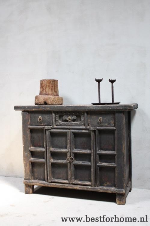 Sobere Stoere Originele Oud Houten Dressoir Chinese Landelijke Oude Kast No297