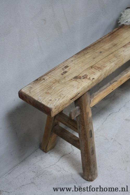 Zwart houten bankje good kruk ede zwart xx cm with zwart for Houten bankje steigerhout