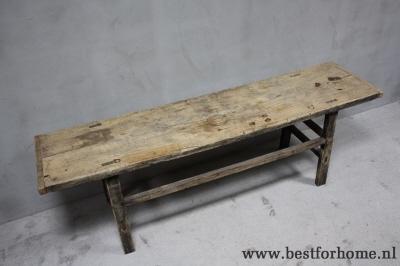 Stoere eettafelbank uniek oud hout robuuste landelijke tafel no