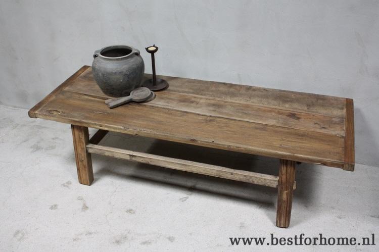 Houten Salontafel Landelijk.Stoere Oud Houten Salontafel China Landelijke Oude Tafel No 583 Verkocht