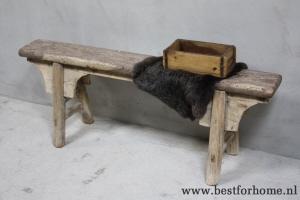 Houten Bankje Slaapkamer : Roze houten bankje auk gaaf